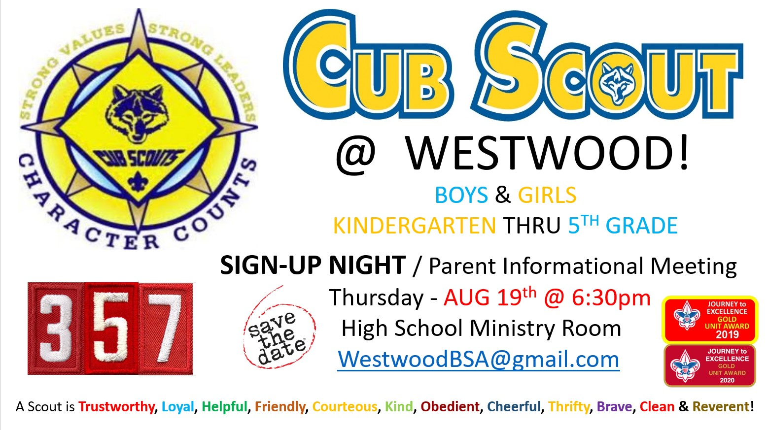 Cub Scout Sign-Up Night